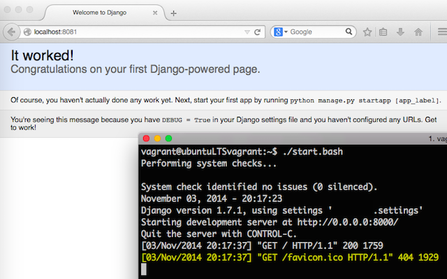 Running Django project