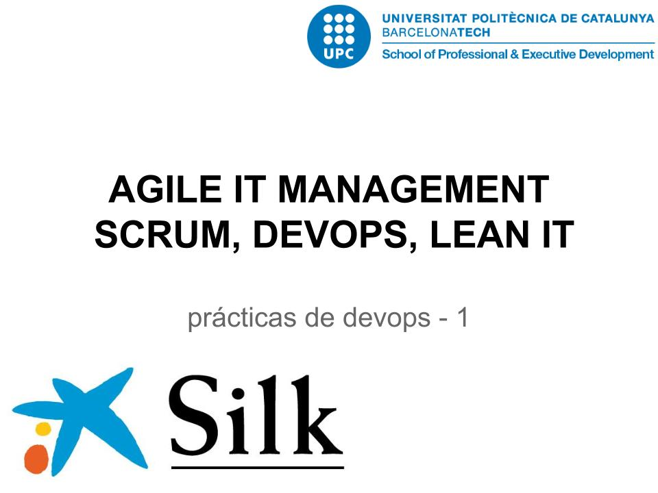 AGILE IT MANAGEMENT: SCRUM, DEVOPS, LEAN IT